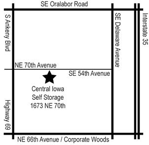 map to Central Iowa Self Storage  sc 1 th 222 & Central Iowa Self Storage Home